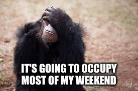 IT'S GOING TO OCCUPY MOST OF MY WEEKEND | made w/ Imgflip meme maker