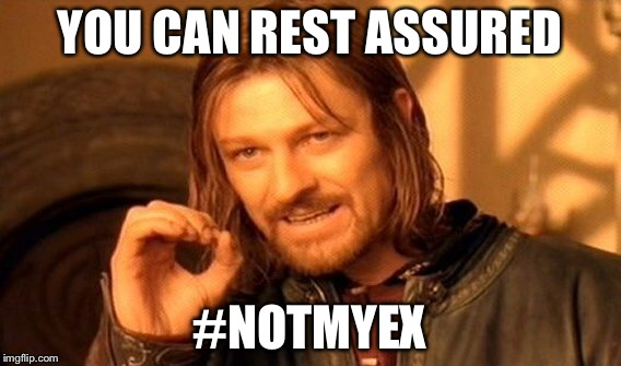 One Does Not Simply Meme | YOU CAN REST ASSURED #NOTMYEX | image tagged in memes,one does not simply | made w/ Imgflip meme maker