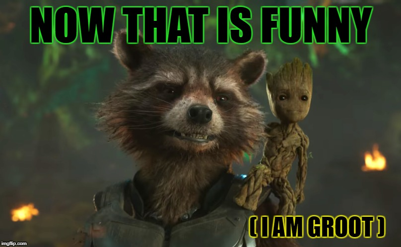 NOW THAT IS FUNNY ( I AM GROOT ) | made w/ Imgflip meme maker