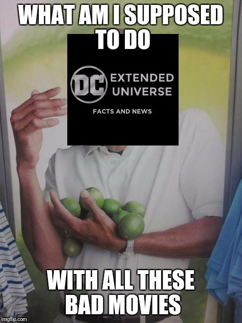 Why Can't I Hold All These Limes | WHAT AM I SUPPOSED TO DO WITH ALL THESE BAD MOVIES | image tagged in memes,why can't i hold all these limes | made w/ Imgflip meme maker