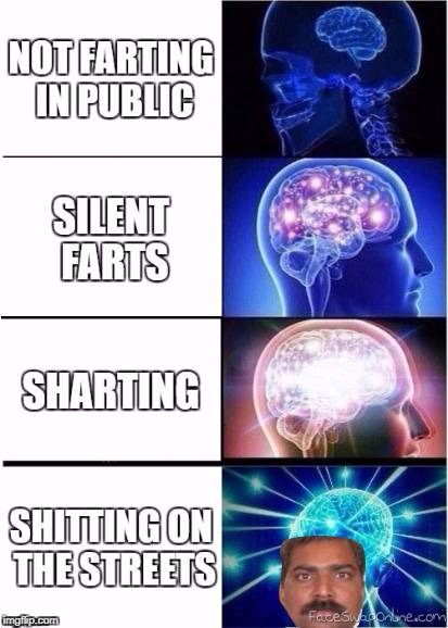 India | image tagged in india,shitting,expanding brain,memes,dank memes | made w/ Imgflip meme maker