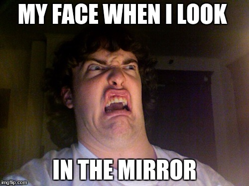 Oh No Meme | MY FACE WHEN I LOOK IN THE MIRROR | image tagged in memes,oh no | made w/ Imgflip meme maker