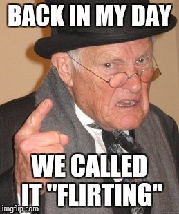 "We don't need the Police , I just asked your name | BACK IN MY DAY WE CALLED IT ""FLIRTING"" 