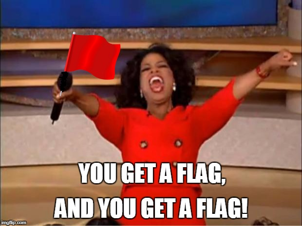 Oprah You Get A Meme | YOU GET A FLAG, AND YOU GET A FLAG! | image tagged in memes,oprah you get a | made w/ Imgflip meme maker