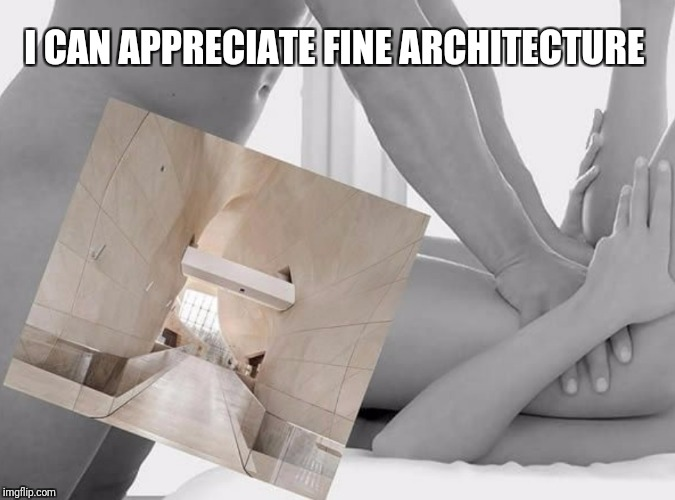 NSFW Weekend, a Jessica_, JBmemegeek and isayisay event Nov 17-19th | I CAN APPRECIATE FINE ARCHITECTURE | image tagged in funny,memes,nsfw,nsfw weekend,architecture | made w/ Imgflip meme maker