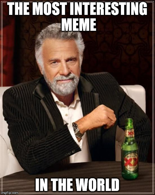 The Most Interesting Man In The World Meme | THE MOST INTERESTING MEME IN THE WORLD | image tagged in memes,the most interesting man in the world | made w/ Imgflip meme maker