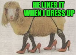 HE LIKES IT WHEN I DRESS UP | made w/ Imgflip meme maker