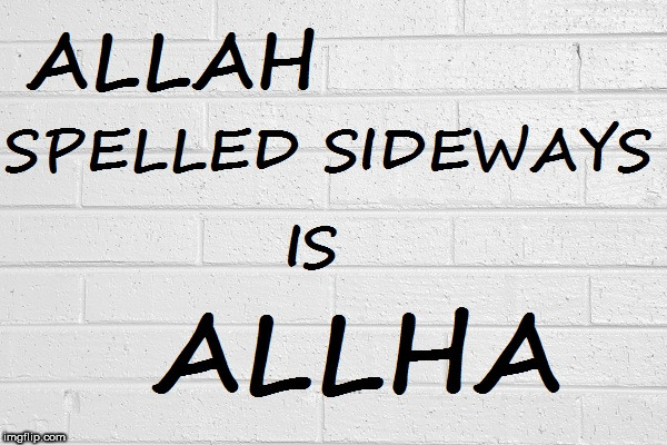 Allah is Allha | image tagged in allah | made w/ Imgflip meme maker
