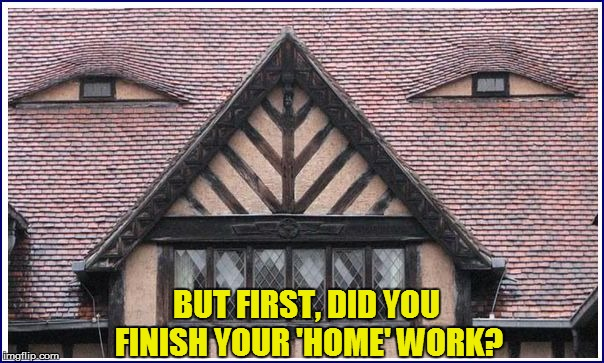 BUT FIRST, DID YOU FINISH YOUR 'HOME' WORK? | made w/ Imgflip meme maker