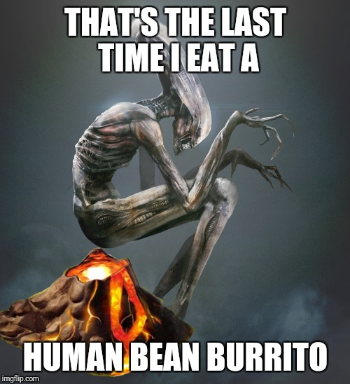 THAT'S THE LAST TIME I EAT A HUMAN BEAN BURRITO | made w/ Imgflip meme maker