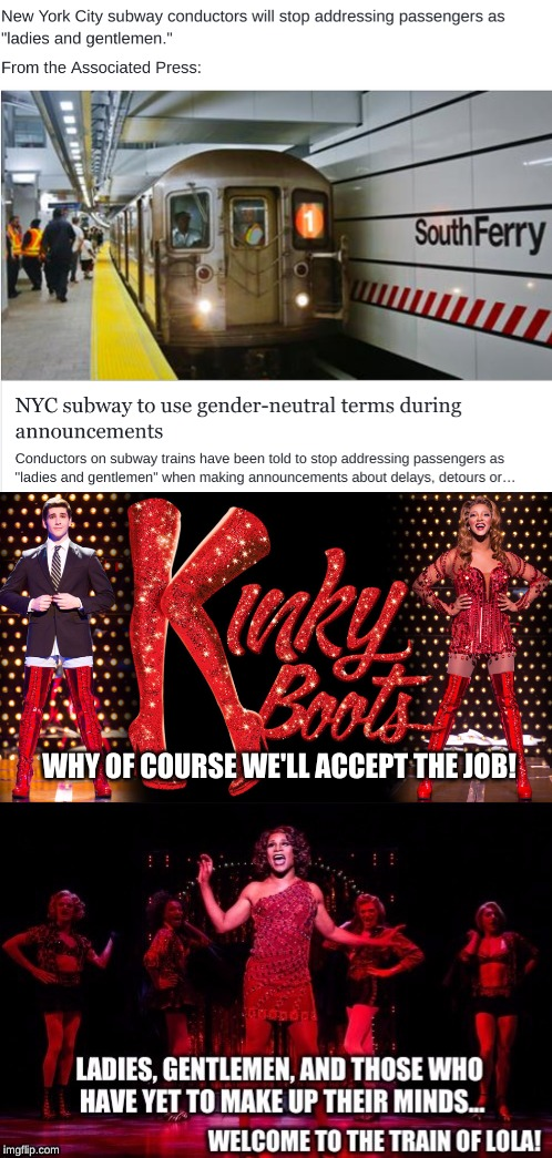 Lola got a new job! | WHY OF COURSE WE'LL ACCEPT THE JOB! | image tagged in musical,nyc,funny,broadway,subway | made w/ Imgflip meme maker