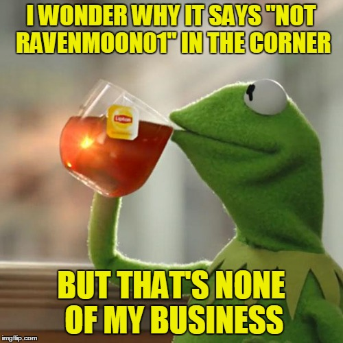 "But Thats None Of My Business Meme | I WONDER WHY IT SAYS ""NOT RAVENMOON01"" IN THE CORNER BUT THAT'S NONE OF MY BUSINESS 