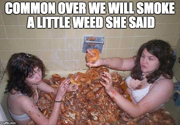 Bad Life Choices | COMMON OVER WE WILL SMOKE A LITTLE WEED SHE SAID | image tagged in smoke weed,bad choices,funny meme,munchies | made w/ Imgflip meme maker