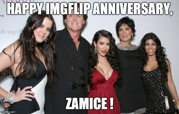 Jenner Christmas | HAPPY IMGFLIP ANNIVERSARY, ZAMICE ! | image tagged in jenner christmas | made w/ Imgflip meme maker