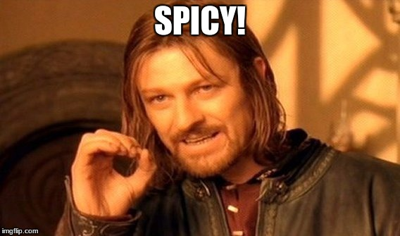 One Does Not Simply Meme | SPICY! | image tagged in memes,one does not simply | made w/ Imgflip meme maker