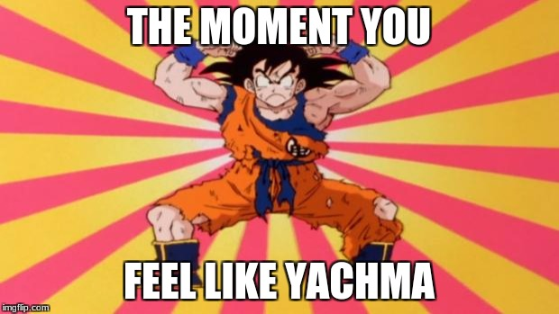 Dragon Ball Z | THE MOMENT YOU FEEL LIKE YACHMA | image tagged in dragon ball z | made w/ Imgflip meme maker