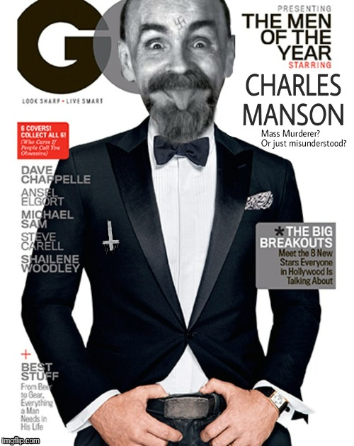 Seems legit.  | . | image tagged in charles manson | made w/ Imgflip meme maker