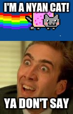I'M A NYAN CAT! YA DON'T SAY | image tagged in you don't say | made w/ Imgflip meme maker