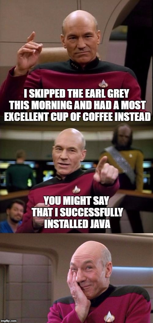 Star Trek Week! Nov. 20th - 27th A brandy_jackson, Tombstone 1881, & coollew event! | . | image tagged in earl grey,coffee,star trek week,java,bad pun picard | made w/ Imgflip meme maker