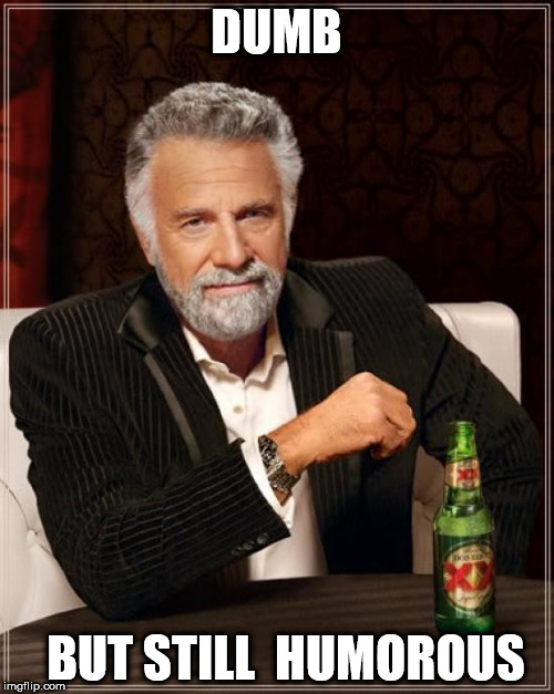 The Most Interesting Man In The World Meme | DUMB BUT STILL  HUMOROUS | image tagged in memes,the most interesting man in the world | made w/ Imgflip meme maker