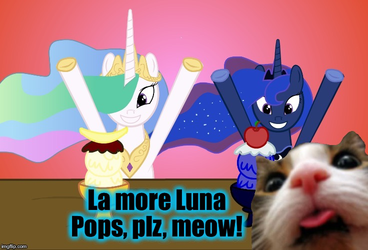 La more Luna Pops, plz, meow! | made w/ Imgflip meme maker