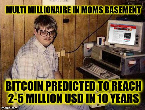 Bitcoin millionaire meme