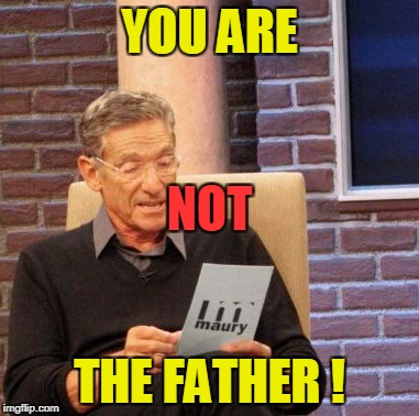 Maury Lie Detector Meme | YOU ARE THE FATHER ! NOT | image tagged in memes,maury lie detector | made w/ Imgflip meme maker