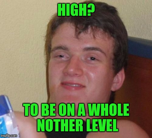 10 Guy Meme | HIGH? TO BE ON A WHOLE NOTHER LEVEL | image tagged in memes,10 guy | made w/ Imgflip meme maker