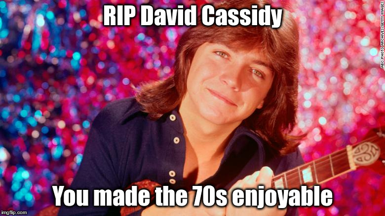 RIP David Cassidy You made the 70s enjoyable | image tagged in david cassidy | made w/ Imgflip meme maker