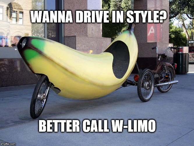 WANNA DRIVE IN STYLE? BETTER CALL W-LIMO | image tagged in drive in style | made w/ Imgflip meme maker