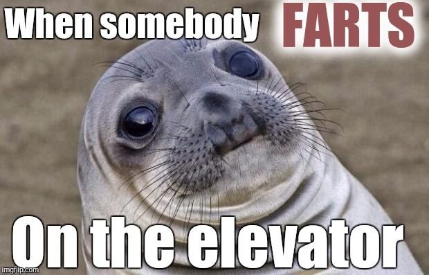 You smell something? | When somebody FARTS On the elevator | image tagged in memes,awkward moment sealion,farts,fart | made w/ Imgflip meme maker