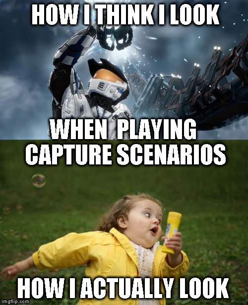 Capture Scenarios  | HOW I THINK I LOOK WHEN  PLAYING CAPTURE SCENARIOS HOW I ACTUALLY LOOK | image tagged in how i look,how i really look,capture,scenarios,capture the flag,dagorhir | made w/ Imgflip meme maker