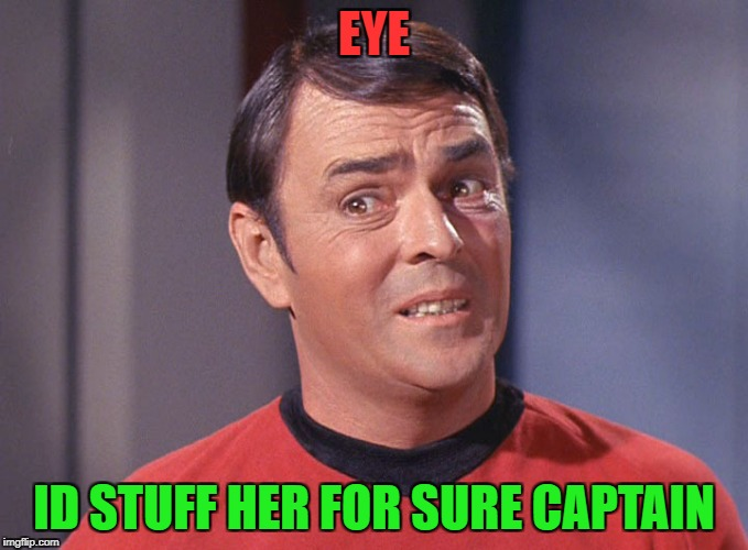 EYE ID STUFF HER FOR SURE CAPTAIN | made w/ Imgflip meme maker