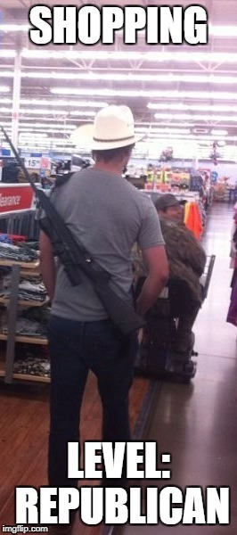 Meanwhile in Texas... | SHOPPING LEVEL: REPUBLICAN | image tagged in memes,funny,texas | made w/ Imgflip meme maker