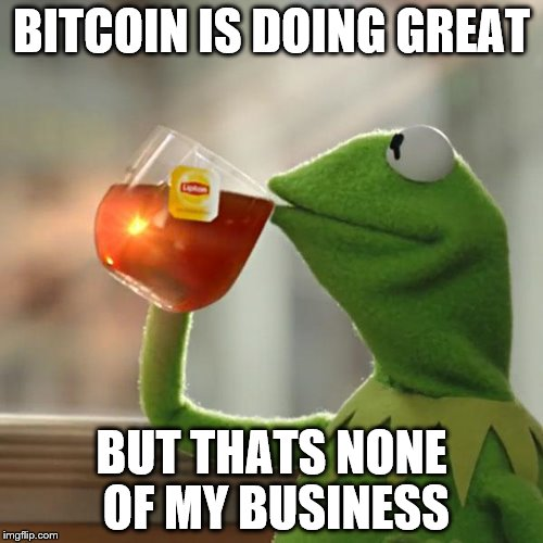 But Thats None Of My Business Meme | BITCOIN IS DOING GREAT BUT THATS NONE OF MY BUSINESS | image tagged in memes,but thats none of my business,kermit the frog | made w/ Imgflip meme maker