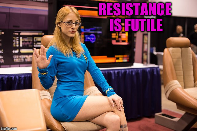 RESISTANCE IS FUTILE | made w/ Imgflip meme maker