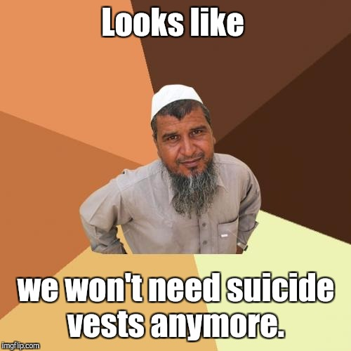 Looks like we won't need suicide vests anymore. | made w/ Imgflip meme maker