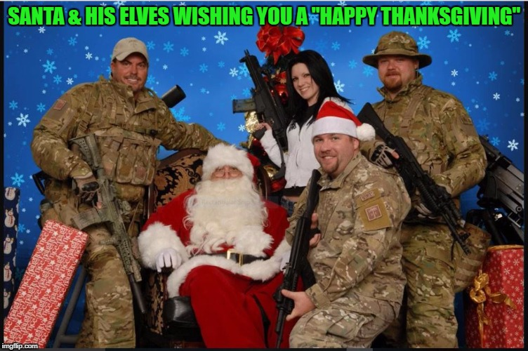 "Santas Elves | SANTA & HIS ELVES WISHING YOU A ""HAPPY THANKSGIVING"" 