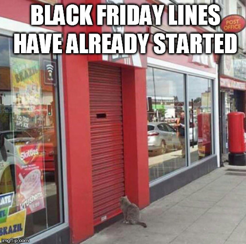 BlackFriday | BLACK FRIDAY LINES HAVE ALREADY STARTED | image tagged in black friday,lines | made w/ Imgflip meme maker