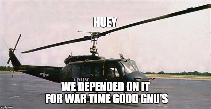 huey | HUEY WE DEPENDED ON IT FOR WAR TIME GOOD GNU'S | image tagged in huey | made w/ Imgflip meme maker