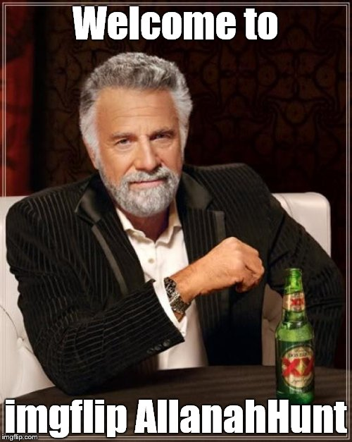 The Most Interesting Man In The World Meme | Welcome to imgflip AllanahHunt | image tagged in memes,the most interesting man in the world | made w/ Imgflip meme maker