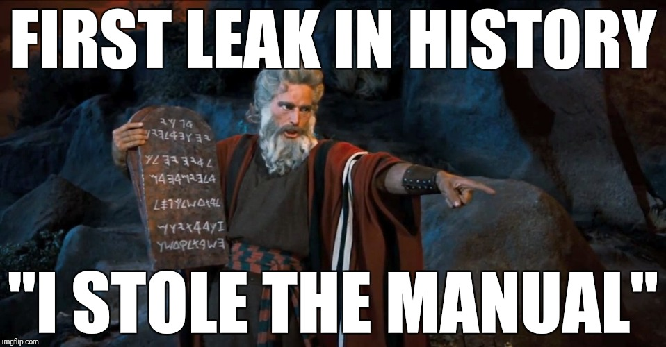 "RTFM | FIRST LEAK IN HISTORY ""I STOLE THE MANUAL"" 
