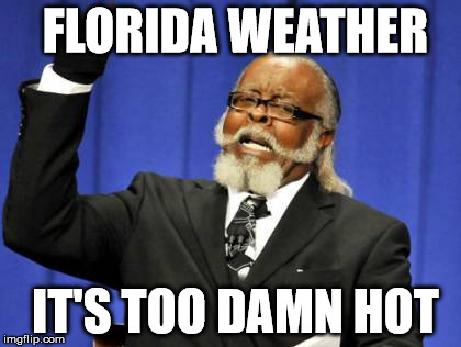 Too Damn High Meme | FLORIDA WEATHER IT'S TOO DAMN HOT | image tagged in memes,too damn high | made w/ Imgflip meme maker