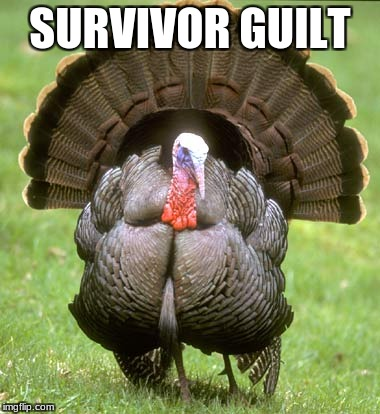 Turkey | SURVIVOR GUILT | image tagged in memes,turkey | made w/ Imgflip meme maker
