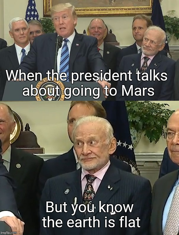 """We are all in danger. It is evil itself."" Buzz Aldrin upon being evacuated from Antarctica due to illness. 