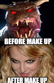 There is no Britany,  only zuul | BEFORE MAKE UP AFTER MAKE UP | image tagged in memes,leave britney alone,ghostbusters,zuul,funny,celebrities | made w/ Imgflip meme maker