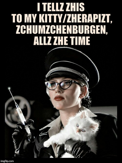 "Scarlett Johansson, Silkin Floss, The Spirit, ""We have ways of m 