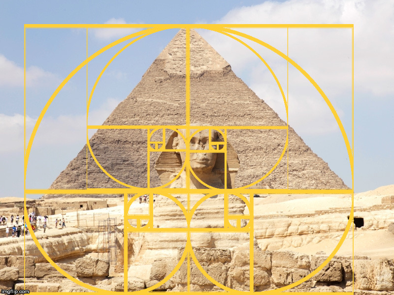 The pyramid of Khafre, the Great Sphinx and The Golden Ratio. | image tagged in pyramid,the great sphinx,the golden ratio | made w/ Imgflip meme maker