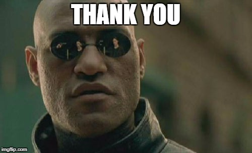 Matrix Morpheus Meme | THANK YOU | image tagged in memes,matrix morpheus | made w/ Imgflip meme maker