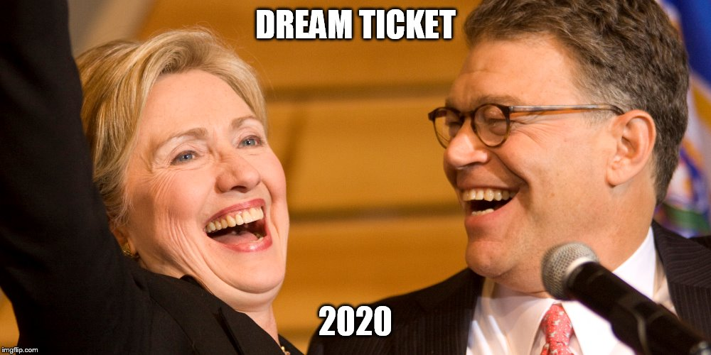 2020 ticket | DREAM TICKET 2020 | image tagged in al franken | made w/ Imgflip meme maker